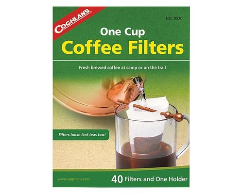 Koffiefilter met houder, voor een kop