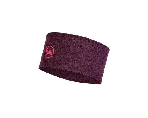 BUFF Midweight merino wool hoofdband, dahlia melange