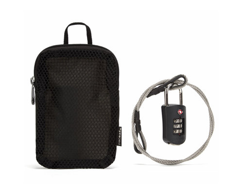 Pacsafe Profsafe 1000 combination lock with steel cable black