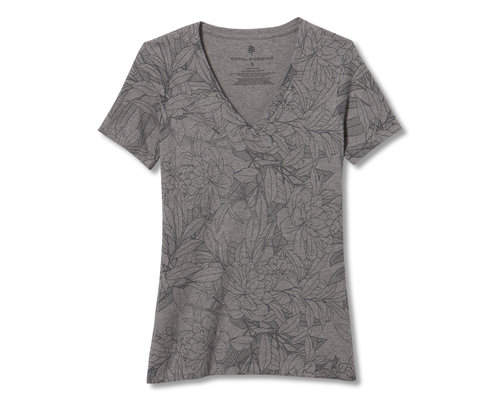 Royal Robbins All Over Floral V-Neck S/S shirt women