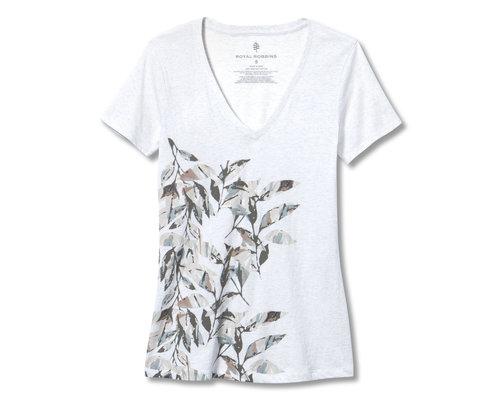Royal Robbins Leaf Motif V-Neck S/S shirt women