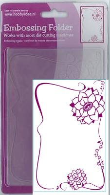 Central Craft Collection Embossing Folder 10,5x15cm Bloem Ornament