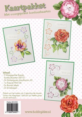 Hobby Idee Borduur Kaartenset Bloemen Hobbyidee