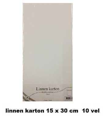 Hobbycentraal Cardboard 15x30 cm white linen