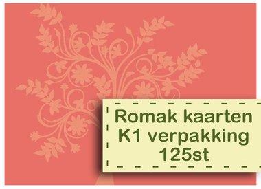 Romak kaarten K1 verpakking 125st