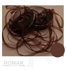 Central Craft Collection Ruban organza 3mm Brown