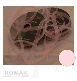 Central Craft Collection 6mm Ruban organza rose de bébé