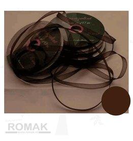 Central Craft Collection Ribbon Organza 6mm Dark brown