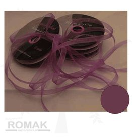 Central Craft Collection Band Organza 3mm Dunkellila