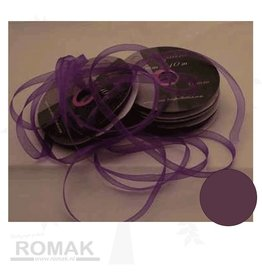 Central Craft Collection Band Organza 3mm Deep Purple