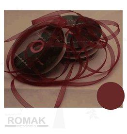 Central Craft Collection 6mm Organzalint Donker rood