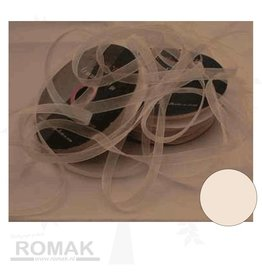 Central Craft Collection Ribbon Organza 6mm Ivory
