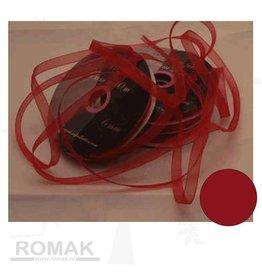 Central Craft Collection Organza 6mm Red Ribbon Weihnachten