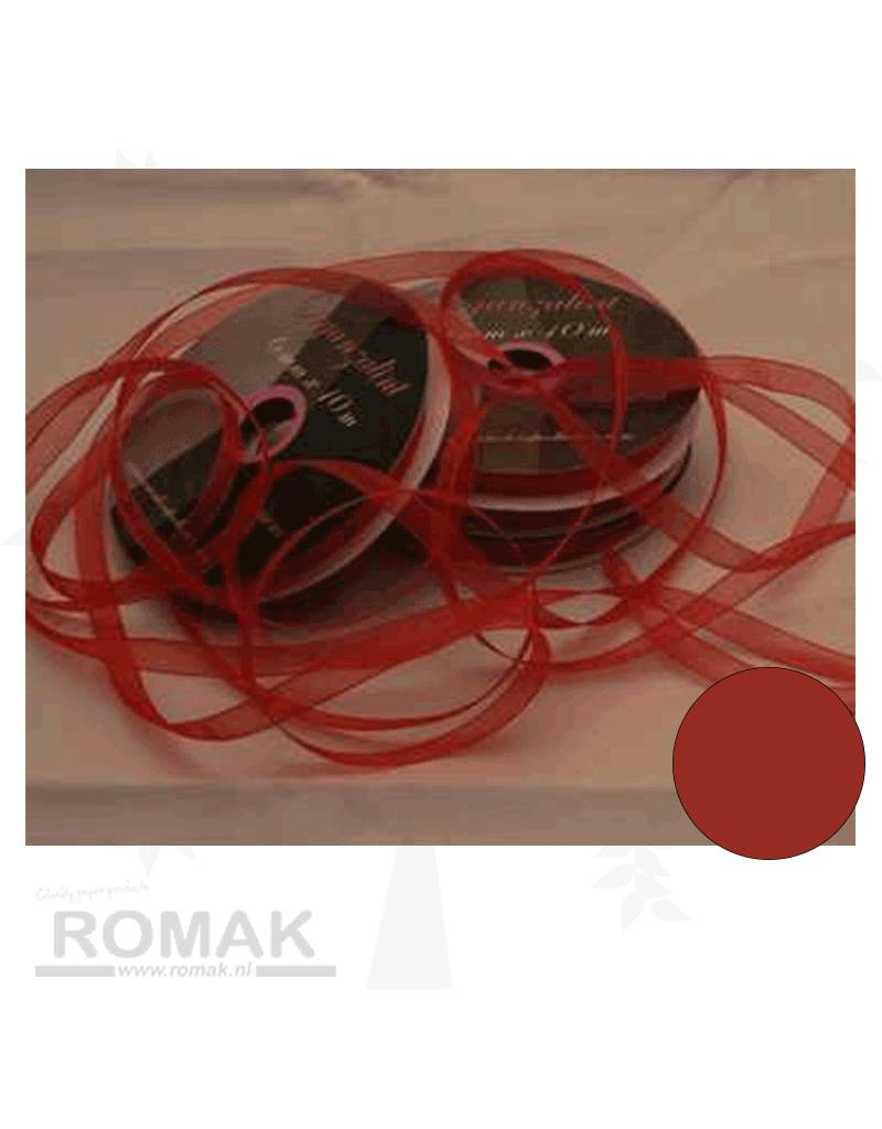 Central Craft Collection 6mm Organzalint Rood