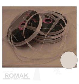 Central Craft Collection 3mm weiße Band Organza