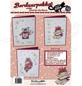Hobby Idee Stickerei-Weihnachtskarten-Set Hobby Idee