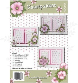 Hobby Idee Carte réglé Floral rose Hobby Idea