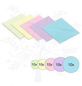 Enveloppes 17x17 cm couleurs pastel