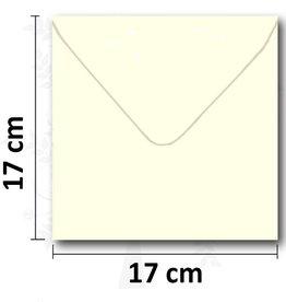 Enveloppe carrée crème 17 * 17 cm 10 pièces