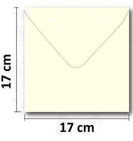 Enveloppe vierkant creme 17*17 cm 10 stuks