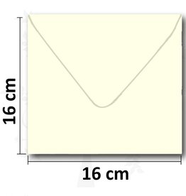 Enveloppe square cream 16 * 16 cm 10 pieces