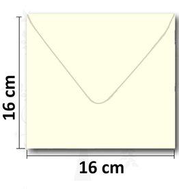 Enveloppe vierkant creme 16*16 cm 10 stuks