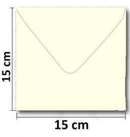 Enveloppe vierkant creme 154*154 mm 10 stuks