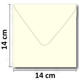 Enveloppe vierkant creme 14*14 cm 10 stuks