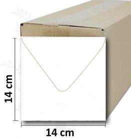 Umschlag quadratisch weiß 14 * 14cm