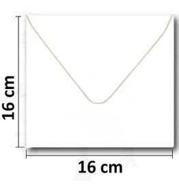 Enveloppe square white 16 * 16cm 10 pieces