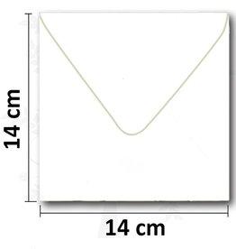 Envelope square white 14 * 14cm 10 pieces