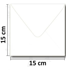 Envelope square white 154 * 154mm 10 pieces