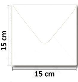 Enveloppe carrée blanche 154 * 154mm 10 pièces