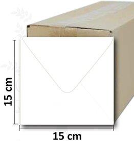 Quadratische weiße Umschlag 15 * 15cm