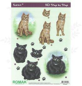 Romak 3D sheet Romak Karen Cats