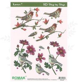 Romak Feuille 3D Oiseaux Romak Karen