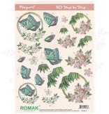 Romak 3D vel Romak Megumi Bloemen Vlinders