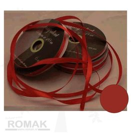 Central Craft Collection 6mm Satin-Band-Rot