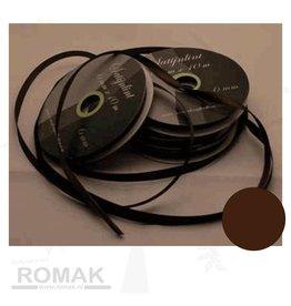 Central Craft Collection 3mm ruban satin marron foncé