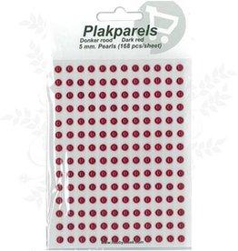 Hobbytheek Paste Perlen Dark Red -Dark Red 5 mm