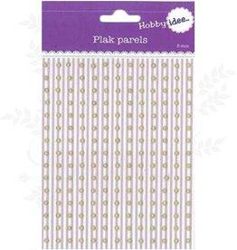 Hobby Idee Collez Pearls or jaune 3mm