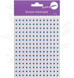 Hobby Idee Strass Steentjes Licht Blauw 3mm