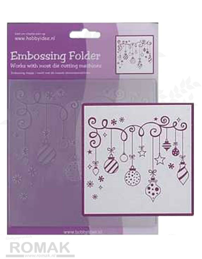 Central Craft Collection Embossing Folder 14x14cm Kerst