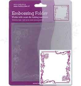 Central Craft Collection Embossing Folder 14x14cm Flower Ornament
