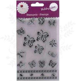 Hobby Idee Papillons de timbre 14,5 x 9,5 cm