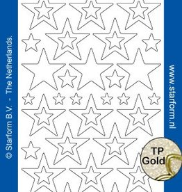 Starform Sterren Glittersticker