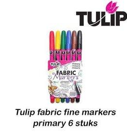 Tulip Tulip fabric markers fine primary 6 st