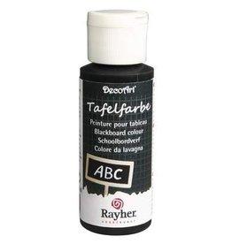 Rayher Schoolbordverf zwart, flacon59 ml.