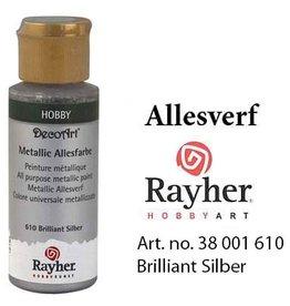 Rayher Metallic Allesverf Briljant zilver