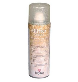 Rayher Glitterspray fijn goud 125 ml